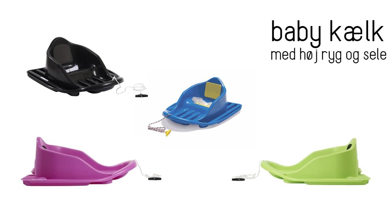 stiga babykælk baby bobslæde kælk med ryglæn kælk med sele bobslæde til baby