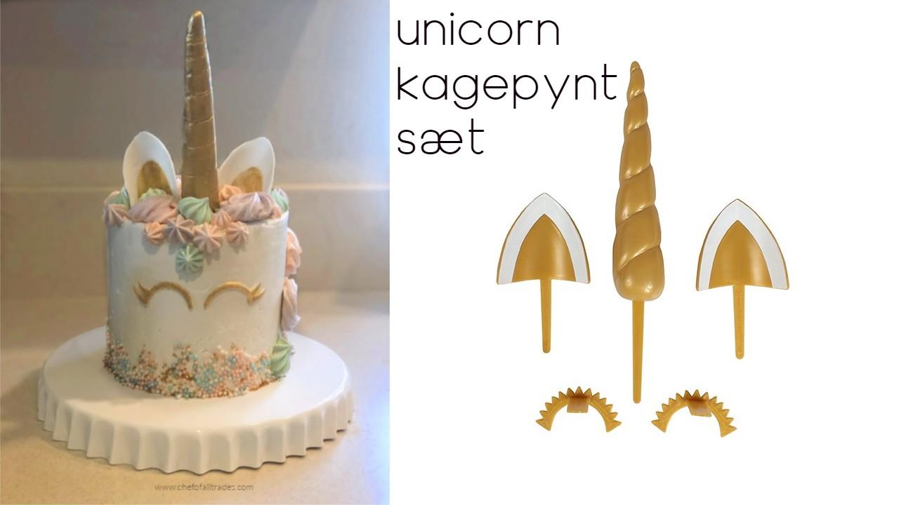 unicorn kagedekoration enhjørning kagedekoration