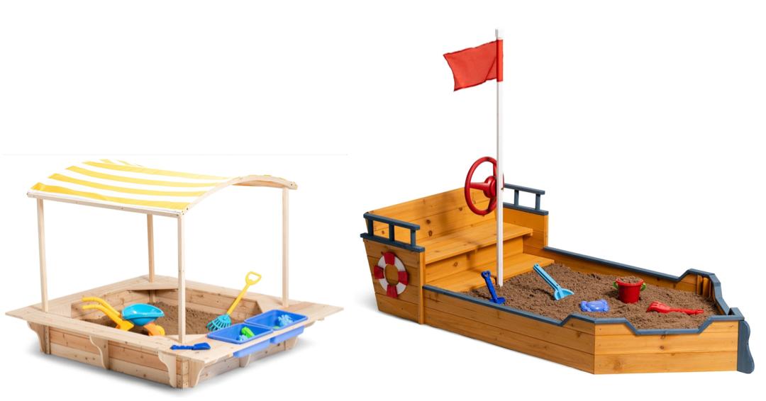 sandkasse med tag sandkasse skib sandkasse piratskib overdækket sandkasse udeleg sandkasse til haven